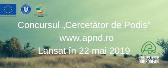 Lansarea concursului Cercetător de Podiș 2019