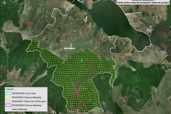 Babadag harta ariilor naturale vizate de proiect