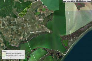 Jurilovca harta ariilor naturale vizate de proiect