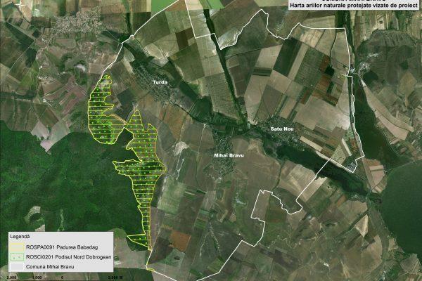 Mihai Bravu harta ariilor naturale vizate de proiect