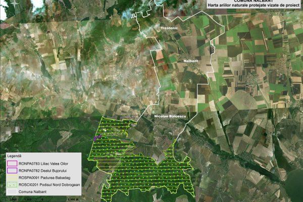 Nalbant harta ariilor naturale vizate de proiect