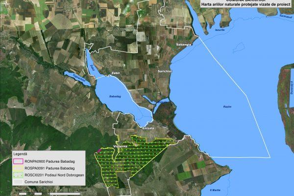 Sarichioi harta ariilor naturale vizate de proiect